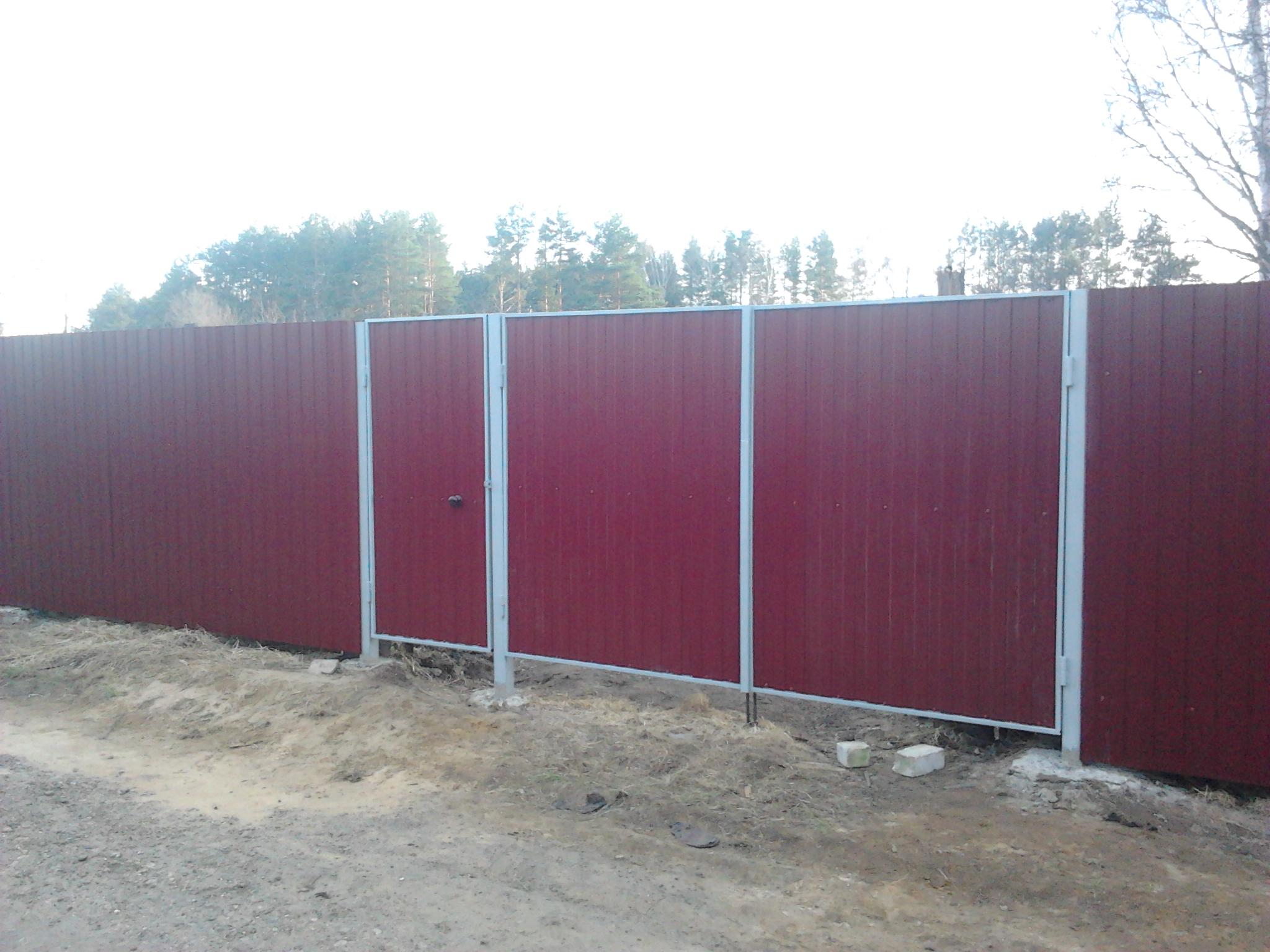 Забор профлист цена система откатных ворот купить в одессе