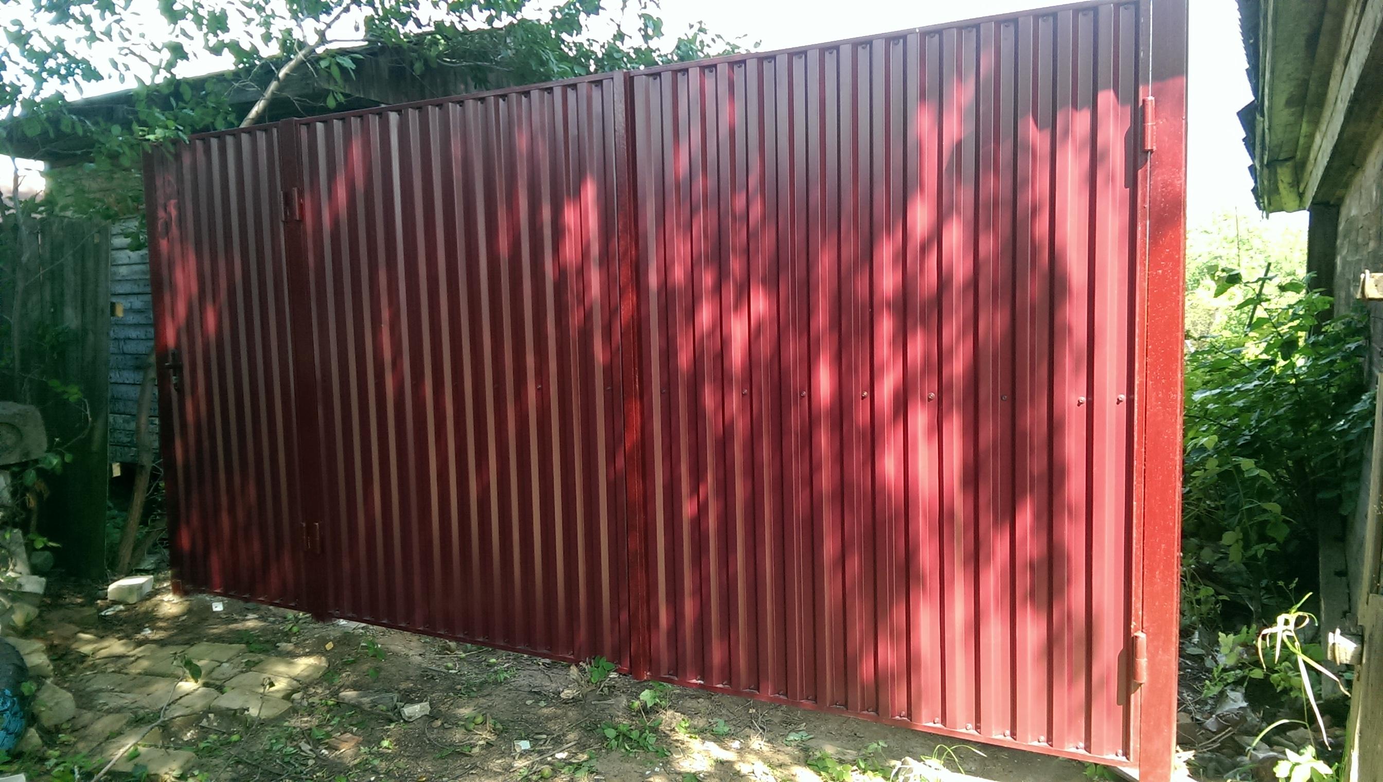 Цена профлиста на забор сплошные ворота в спб